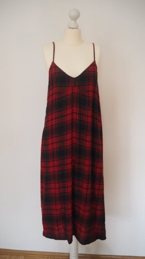 ZARA Red checked dress_from the Latest collection_XS