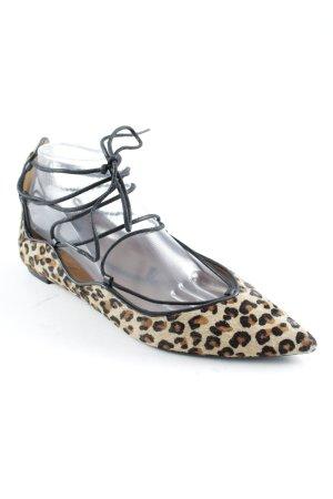 Zara Ballerines à lacets motif léopard style décontracté