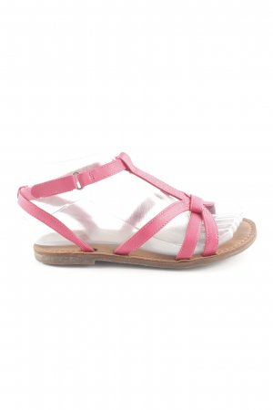 Zara Strapped Sandals pink casual look
