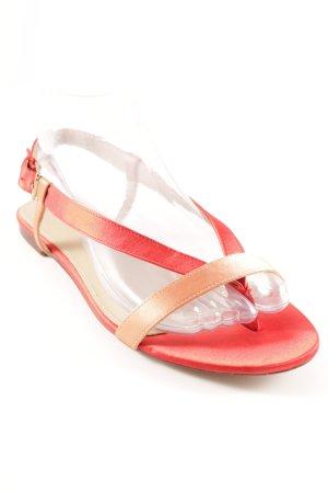 Zara Riemchen-Sandalen rot-apricot Casual-Look