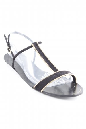 Zara Strapped Sandals black casual look