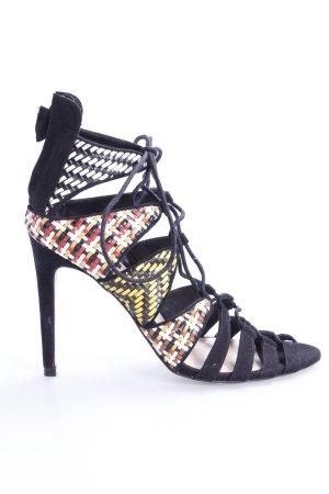 Zara Riemchen-Sandaletten Flechtoptik
