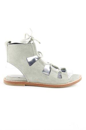 Zara Strapped High-Heeled Sandals lime-green Boho look