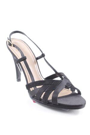 Zara Sandalias de tacón de tiras negro elegante