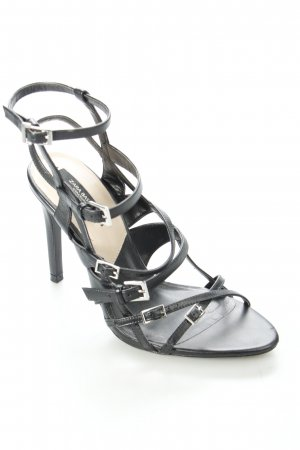 Zara Riemchen-Sandaletten schwarz klassischer Stil