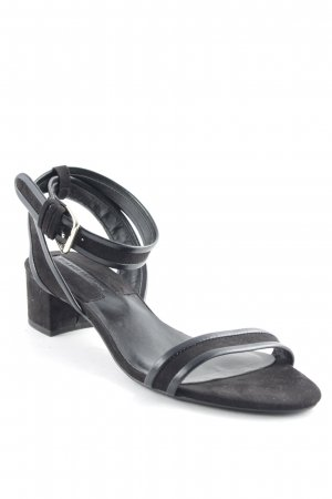 Zara Strapped High-Heeled Sandals black classic style