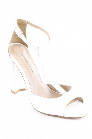 Zara Riemchenpumps beige-weiß Elegant