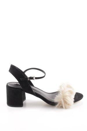 Zara Riemchenpumps schwarz-beige Elegant