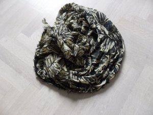 Zara Riesiger Schal/Tuch/Stola 95x200 cm, oliv-grün Töne, NEU
