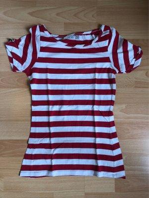 Zara Ringel Shirt Streifen Gr. 36 / S rot weiß