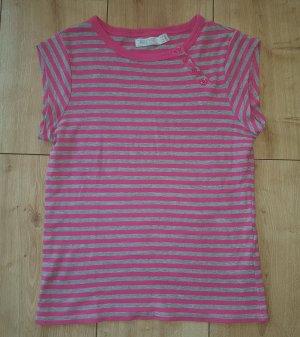 ZARA Ringel Shirt Tshirt Querstreifen Sommer Strand Urlaub Grau / Pink XS 34