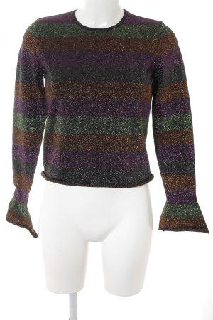Zara Stripe Shirt horizontal stripes glittery