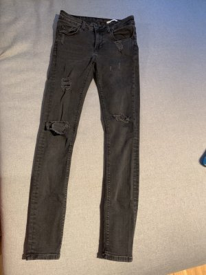 Zara Ripped Denim black jeans size 36