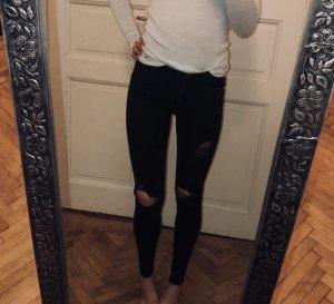 Zara Ripped Jeans Black
