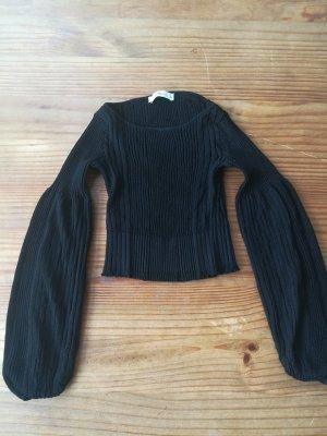 Zara Knit Top de ganchillo negro
