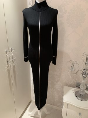 Zara Vestido de tubo negro-blanco