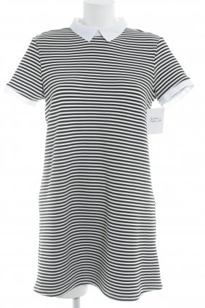 Zara Ribbed Shirt white-black striped pattern casual look