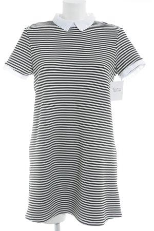 Zara Rippshirt weiß-schwarz Streifenmuster Casual-Look