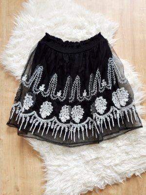 Zara Tulle Skirt white-black