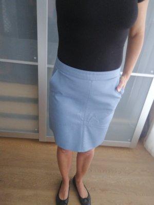 Zara Rok van imitatieleder korenblauw