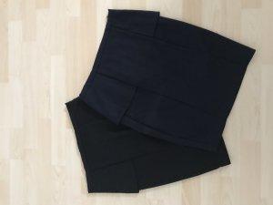 Zara Kokerrok zwart-donkerblauw