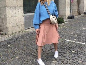 Zara Falda de talle alto albaricoque