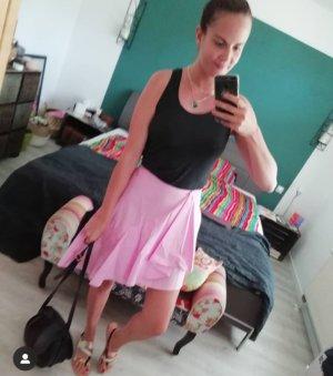 Zara Falda de talle alto rosa claro