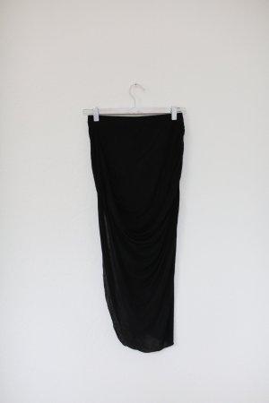 Zara Rock asymmetrisch Gr. M schwarz Baumwolle Stretch Blogger