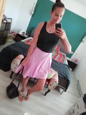 Zara Rock asymmetrisch Rosa Pastell Highwaist S