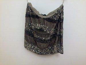 Zara Rock bestickt mit Pailletten & Perlen