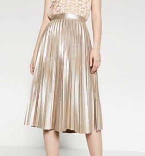 Zara Falda midi color oro