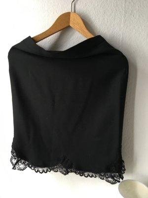 Zara Rock in schwarz mit spitze am Saum