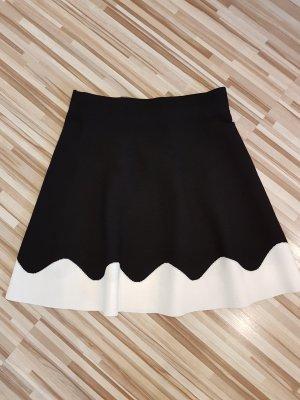 Zara Jupe évasée noir-blanc