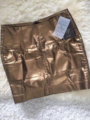 Zara Rock neu mit Etikett S metallic Blogger Trend Party kupfer Bronze