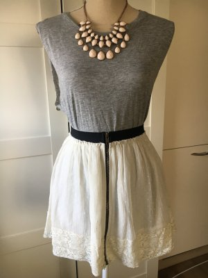 Zara Basic Lace Skirt white-natural white
