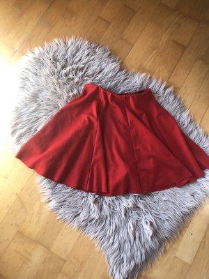Zara Jupe à plis rouge