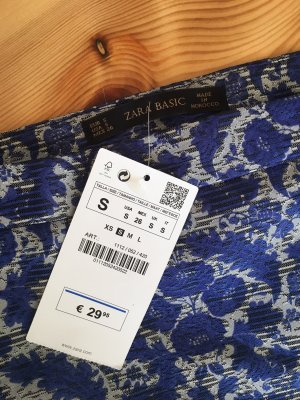 Zara Minifalda azul