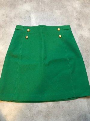 Zara Minifalda verde bosque