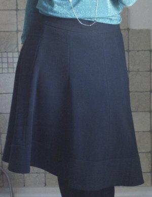 Zara Rock, schwarz, elegant, glockig, medium Länge, Polyester Rayon Elasthane