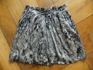 Zara Rock Seide M 38 36 gemustert high waist Taille rar