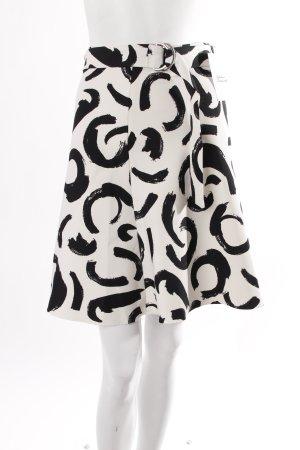 Zara Rock weiß mit schwarzem Print