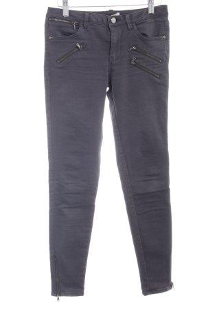 Zara Pantalone a sigaretta grigio scuro stile casual