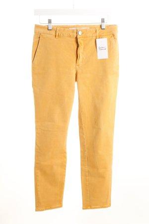 Zara Pantalón de tubo naranja claro estilo clásico