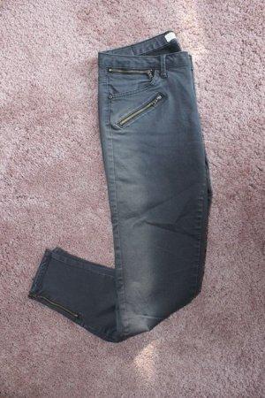 Zara Pantalon cigarette gris foncé-gris