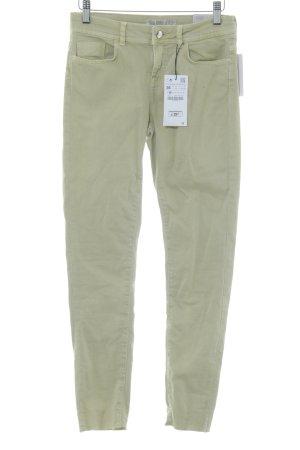 Zara Jeans cigarette vert pâle style décontracté