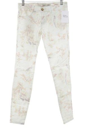 Zara Jeans cigarette vert pâle motif floral style décontracté