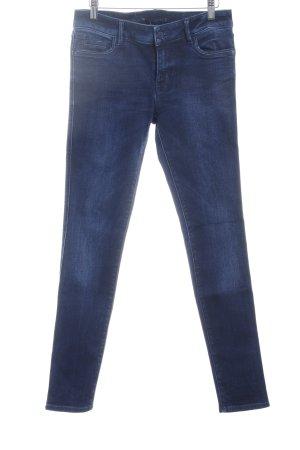 Zara Röhrenjeans dunkelblau Jeans-Optik
