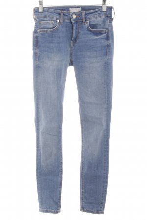 Zara Röhrenjeans blau Jeans-Optik