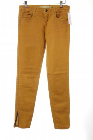 Zara Röhrenjeans hellorange Washed-Optik