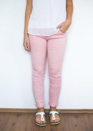 ZARA Röhrenjeans rosa pastell nude